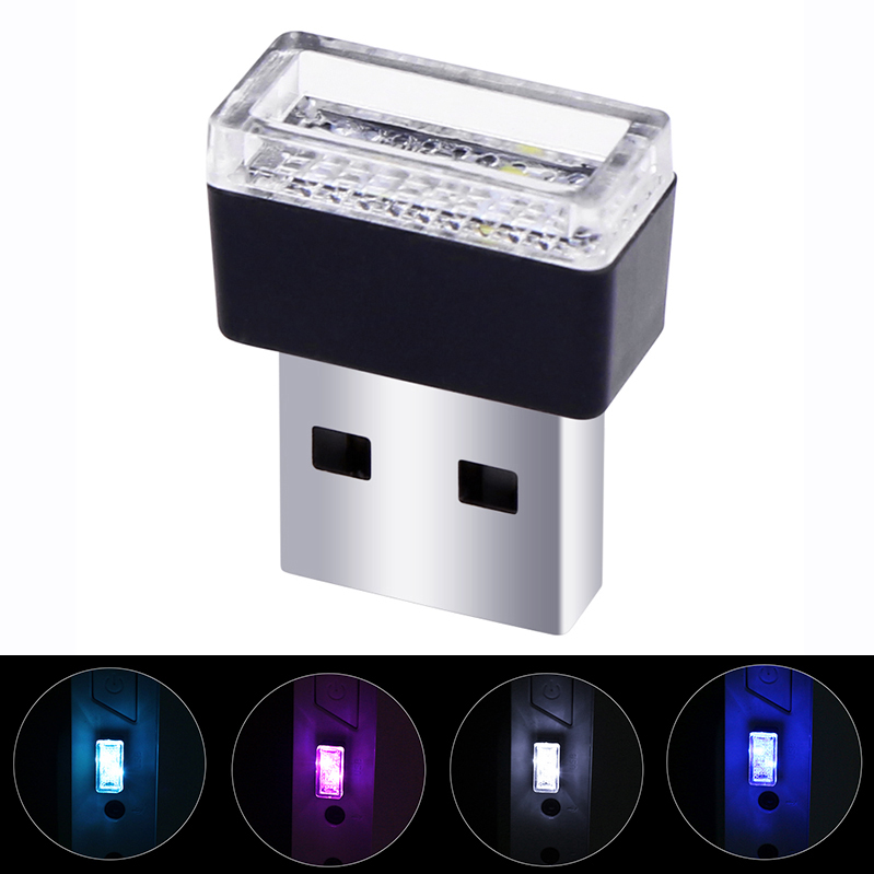 Car T10 1156 led USB LED Atmosphere Lights Decorative Lamp Emergency Lighting Universal PC Portable Plug and Play Red/Blue/White