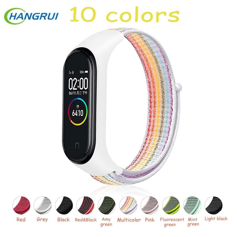 Nylon Strap For Xiaomi Mi Band 4 3 Strap Smart Bracelet Soft Sport Wristbands For Mi Band 4 NFC Global Smart Watch Women Men