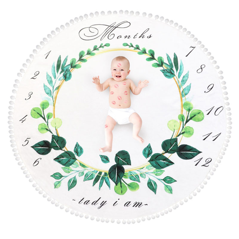 Soft Infant Baby Milestone Blanket Photo Photography Prop Blankets Backdrop Cloth Calendar Baby Boy Girl Photo Accessories