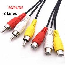 36M Av Cable 8 lineas for Satellite tv Receiver 8 Ports HD DVB-S2 Support GTmedia V8 NOVA