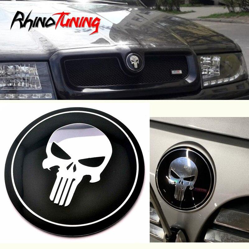 1pc 78mm Car Front Bonnet Hood Sticker Skull Emblem Badge For E30 E36 E37 E82 E46 E90 E91 F30 E93