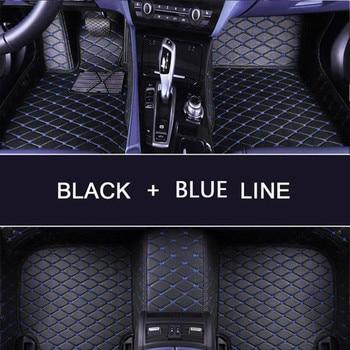 leather car floor mats  for Toyota RAV4 2019 2020 XA50 RAV 4 Interior Accessories Custom auto foot Pads automobile carpet cover