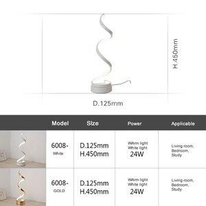 Image 5 - Lampe de bureau design nordique moderne, luminaire décoratif dintérieur, prise ue/US, pour chambre à coucher, chambre à coucher, bureau, 24W