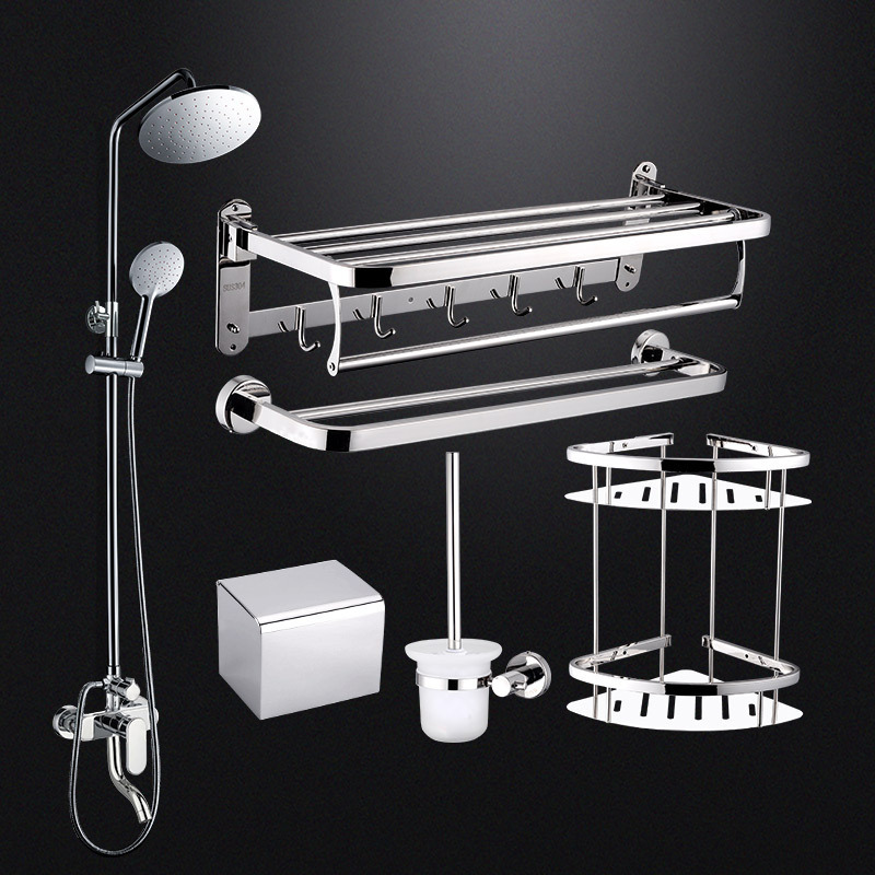 Full Copper Pressure Boost Shower Shower Suit Toilet Shower Room Three Archives Hot And Cold Mix Water Tap Bath Shower Suit
