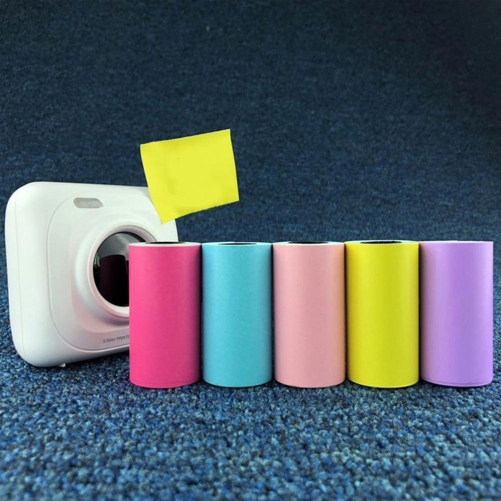 Self-adhesive Thermal Printing Paper Stickers 57x30mm Paper Photo Printer Thermal Stickers Printing D4H7