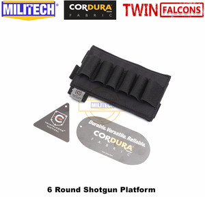 Image 3 - MILITECH TWINFALCONS TW 500D Delustered Cordura Molle 6 Rounds Buck Shotgun Shell Platform Ammo Pouch Elastic Band Ammo Base