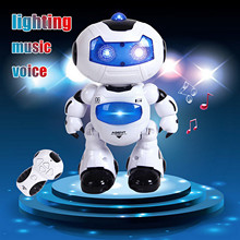 Toy Music Robot Intelligent Light Model Remote-Control Walking-Space Kids Electronic