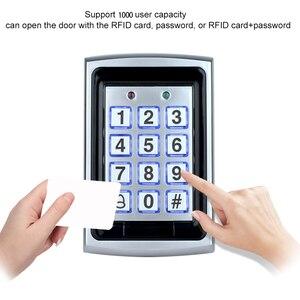 Image 2 - OBO Waterproof Metal Rfid Access Control Keypad Reader Board + 10pcs Key Fobs For RFID Door Access Control System WG26 Backlight