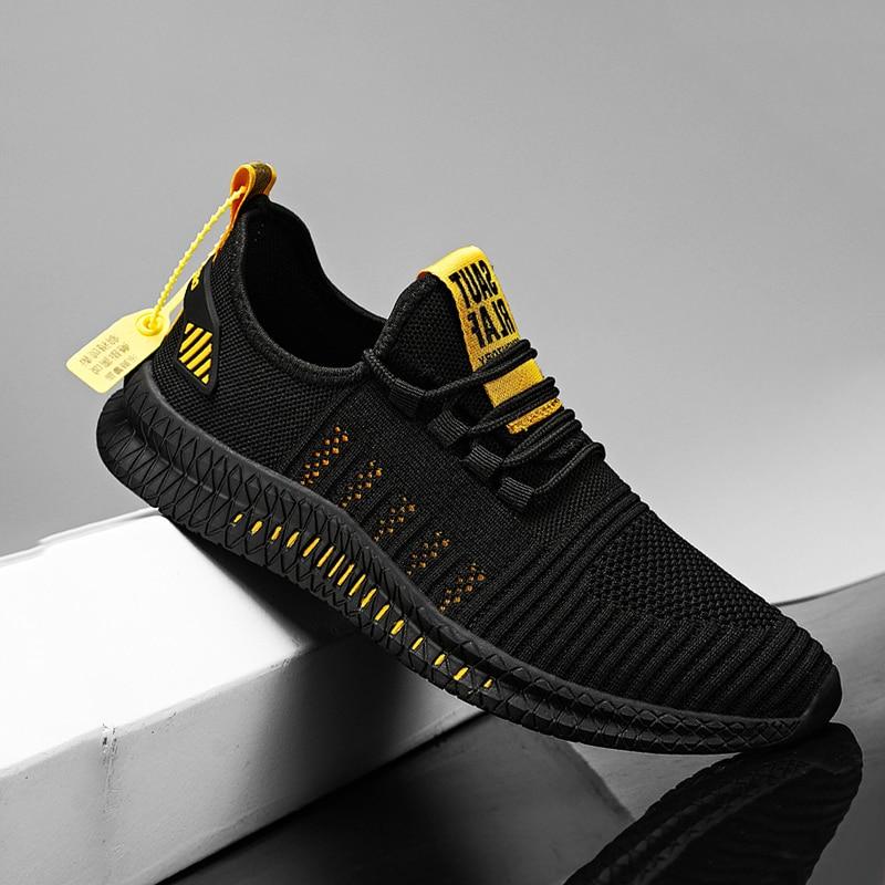 Новинка 2020, мужская повседневная обувь, светильник, большой размер 48, кроссовки, модные спортивные кроссовки для бега, недорогая Удобная дыш...