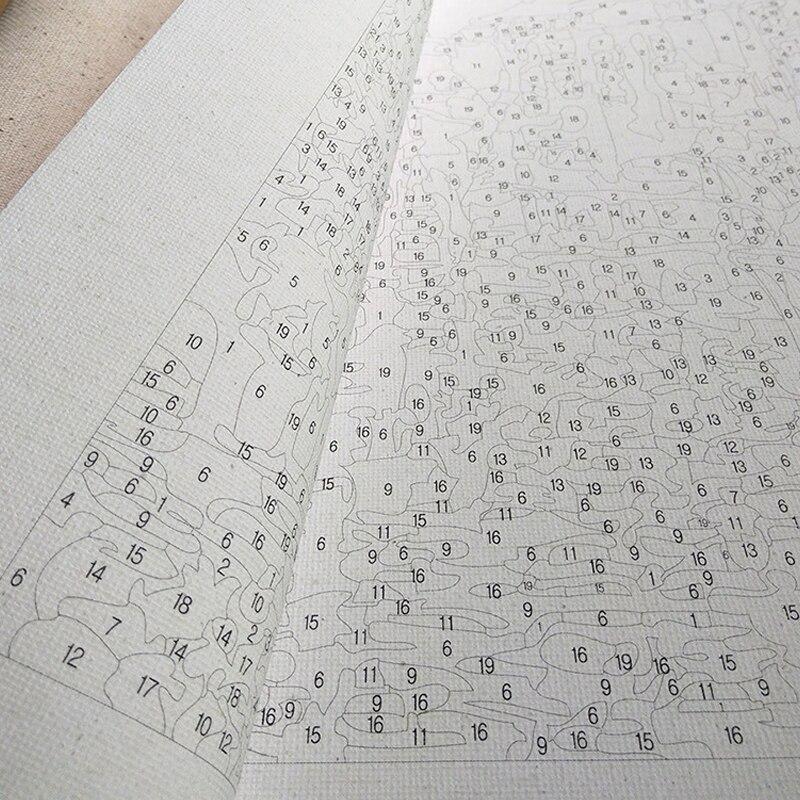 Набор для рисования по номерам масляными красками 80x100 см