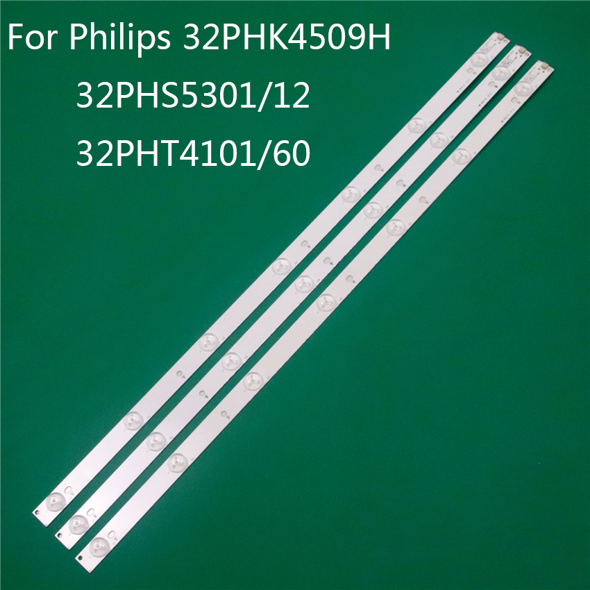 TV LED di Illuminazione Per Philips 32PHK4509H 32PHS5301/12 32PHT4101/60 LED Bar Striscia di Retroilluminazione Linea Righello GJ-2K15 D2P5 d307-V1 1.1