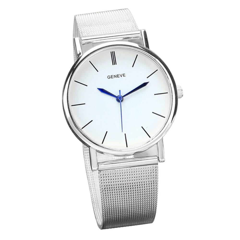 Geneve Women's Fashion Watch Stainless Steel Band Quartz Wrist Watches SL  Zegarek Damski Relógio Feminino женские часы