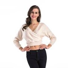 Женский свитер с v образным вырезом Осень зима 2020 трикотажные