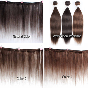 Image 2 - Bobbi Collection 1 Bundle Dark Brown 1B 27 Ombre Honey Blonde Indian Hair Weave Straight Human Hair Weft Non Remy Hair Extension