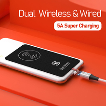 Wireless Chargers Magnetic Charging Receiver Type C Cable SIKAI QI 3.0 Dual Modes Wired 1.5mm thickness sticker case Adapter