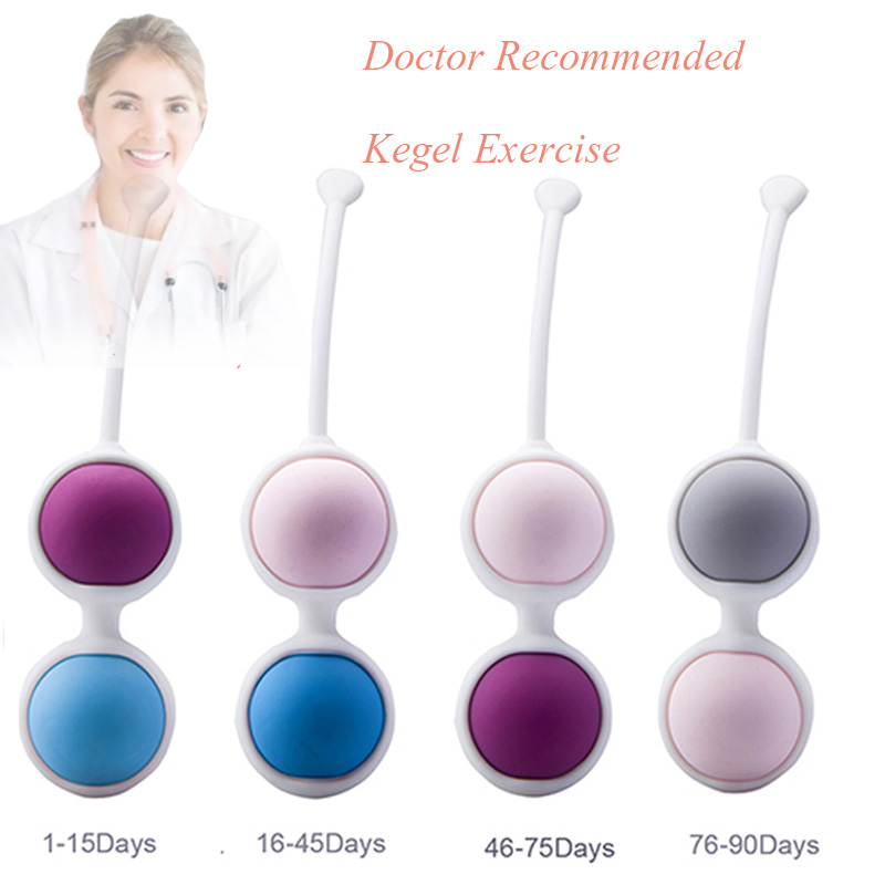 Sex Toys For Women Waterproof 4 Balls Vaginal Balls Magic Kegel Exercises Female Silicone Koro Kegel Geisha Ball Dumbbe Exercise