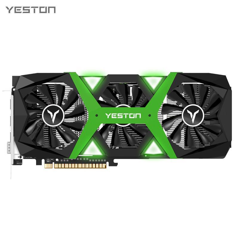 Placa gráfica do jogo de yeston gtx1660 Super-6G d6 pa 1530-1785mhz 14ghz 6g 192bit gddr6 placa gráfica com DVI-D + hdmi + dp