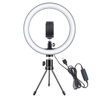 Selfie LED anillo de luz regulable USB teléfono maquillaje lámpara tocador espejo luz Video en vivo estudio belleza foto Luz|  -