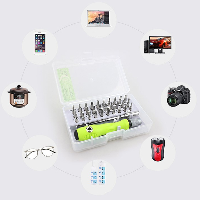 32 In 1 Screwdriver Set High Precision Mini Magnetic Screwdriver Bits Kit Phone Mobile IPad Camera Maintenance Tools Torx Repair