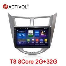 HACTIVOL Octa Core 2G RAM 32G Car radio for Hyundai Solaris Accent Verna Android 8.1 car dvd player gps navigation wifi hactivol 2 din car radio face plate frame for hyundai verna 2017 car dvd player gps navigation panel dash mount kit car products