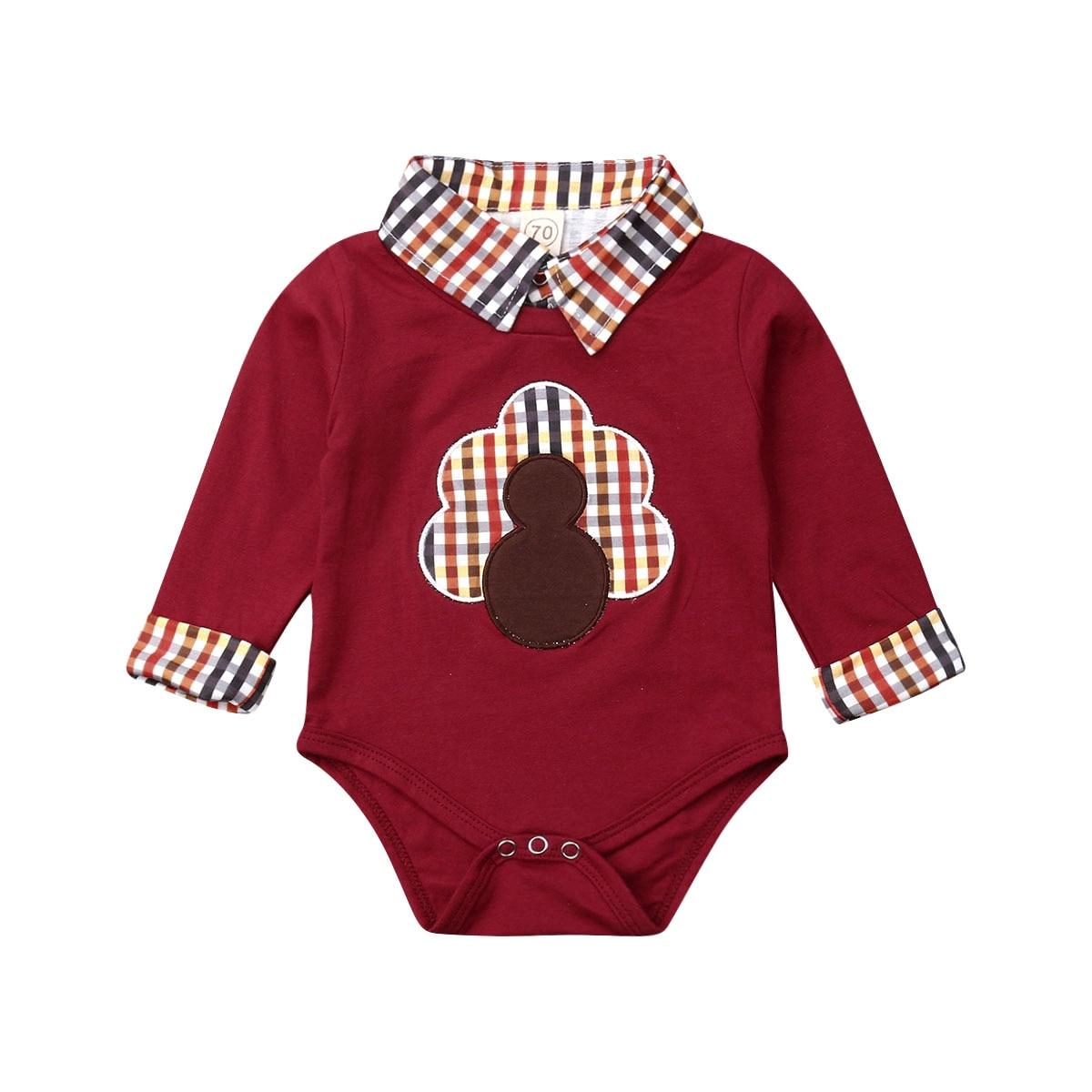 Herbst Kleidung Neugeborenen Baby Jungen Kleidung Gentleman Thanksgiving Tag Strampler Overall Outfit Kleidung Set 0-18 monate
