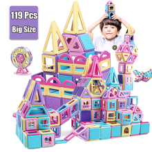 Big Size Magnetic Designer Construction Set Model & Building Toy Plastic Magnetic Blocks Educational Toys For Kid Gift