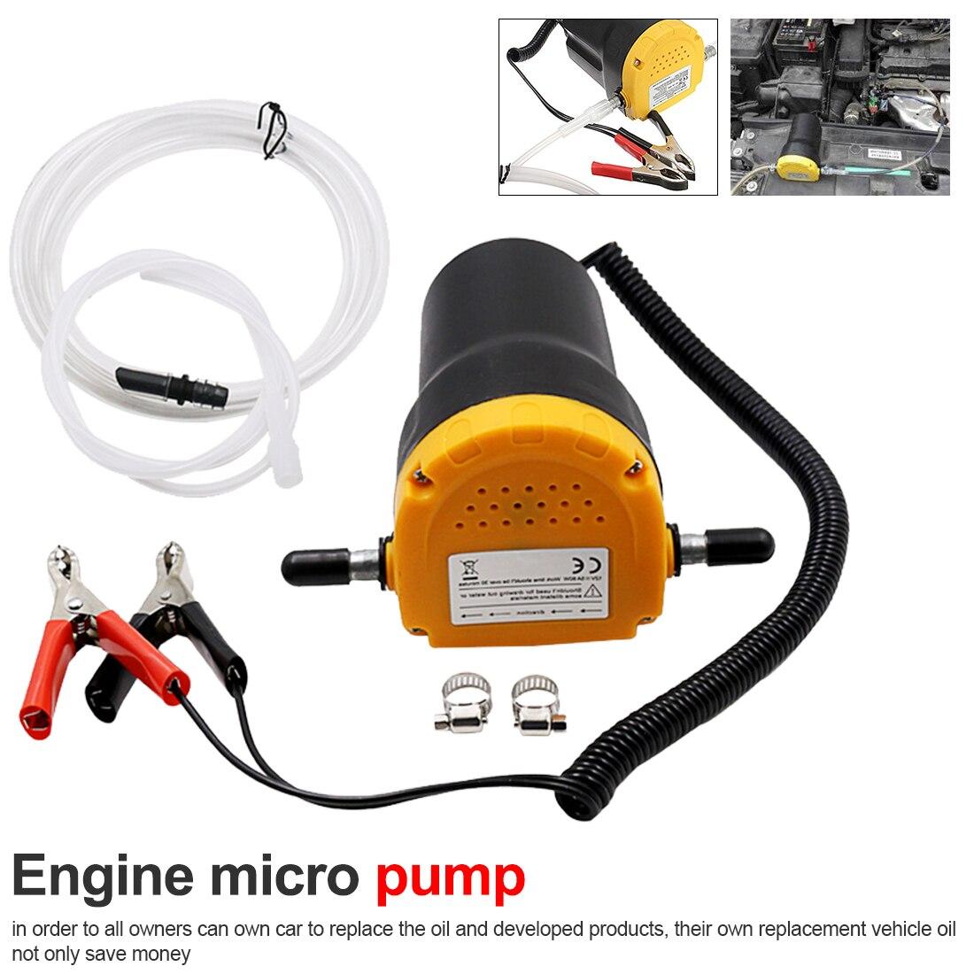 Pompe à huile électrique 24V ou 12V huile/Diesel fluide puisard extracteur Scavenge échange carburant transfert pompe d'aspiration bateau moto
