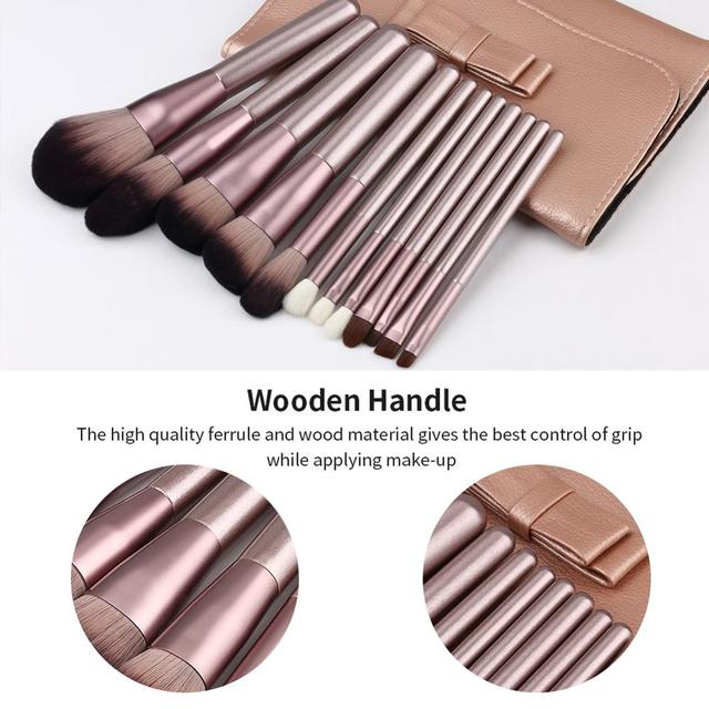 Makeup Brushes Set WeChip 12pcs Premium Makeup Brush Kit Kabuki Foundation Face Powder Blush Eyeshadow Concealers Cosmetic Brush 5