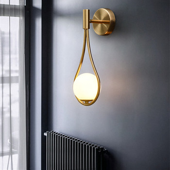 Nordic Gold wall light Art Deco Sonces For Studio Bedroom Living room Kitchen stair light led bedside lamp