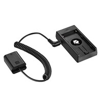 NP-FW50 Dummy Battery to NP-F NP-F970 Battery Adapter Hot Shoe Mount Plate 1/4