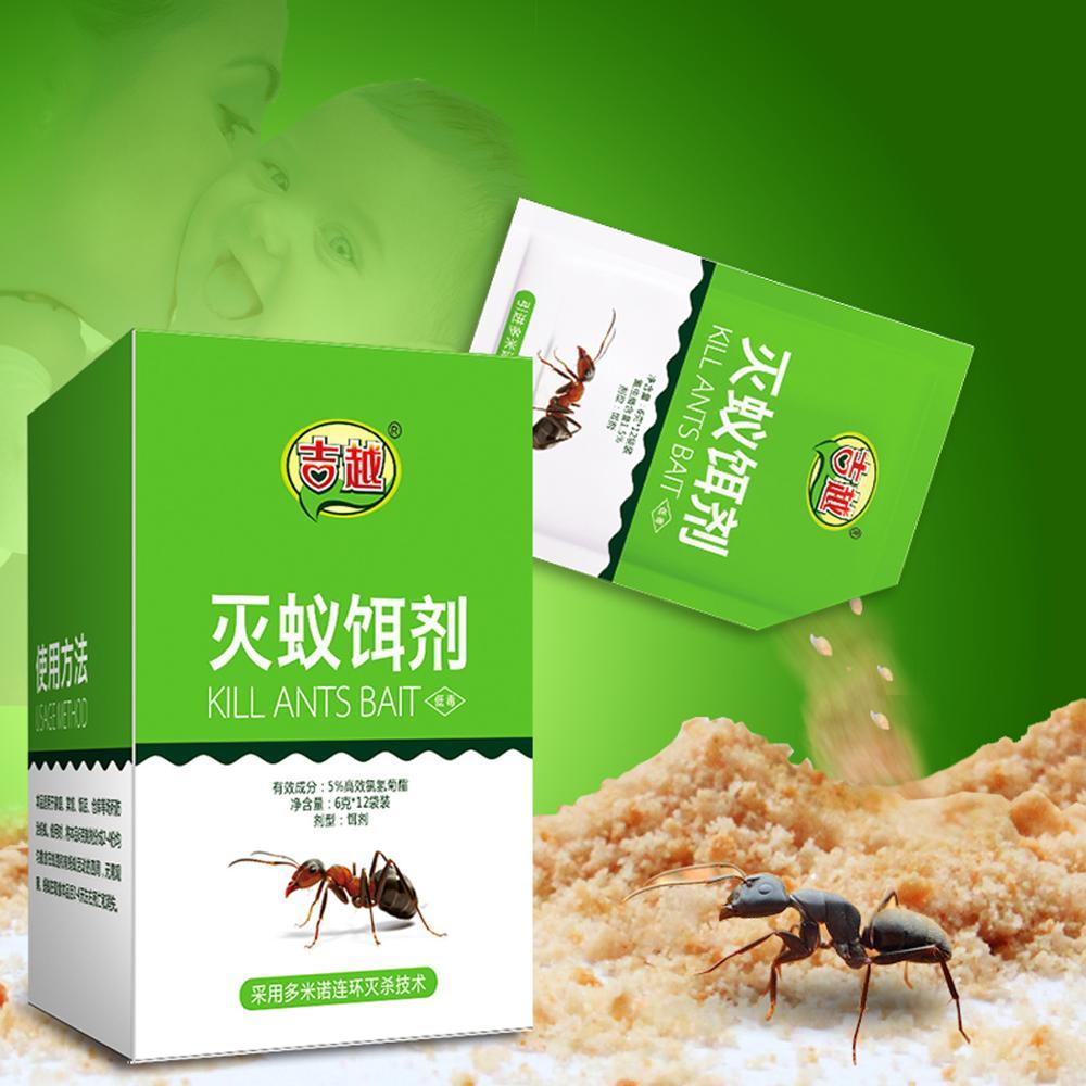 12 Packs JIYUE Ant Trap Powder Killing Bait Ants Killer Repellent Trap Pest Control Destroy Ant Bait