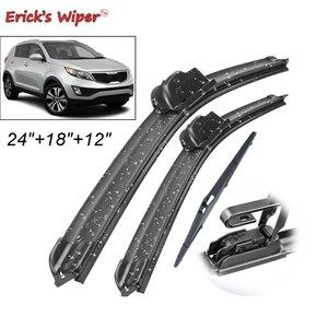 """Erick's Wiper Front & Rear Wiper Blades Set Kit For KIA Sportage SL 2010 - 2015 Windshield Windscreen 24""""+18""""+12""""(China)"""