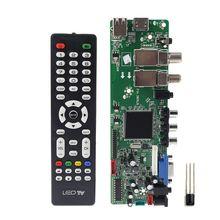 DVB S2 DVB T2 DVB C ดิจิตอลสัญญาณ ATV Maple DRIVER LCD รีโมทคอนโทรล BOARD Launcher Universal Dual USB Media QT526C V1.1 T.s5