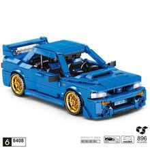 Techniczny klasyczny samochód sportowy SUBARU WRX STI 22B klocki do budowy modelu wycofać cegły pojazdu kolekcja zabawek dla chłopców prezenty