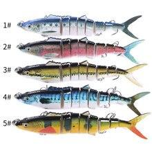 18 см 38 г Тонущая большая басовая рыболовная соединенная приманка рыболовные приманки 8 сегментов рыболовные снасти