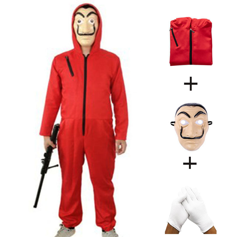 Salvador Dali Cosplay La Casa De Papel  Costume Child Adult Man Woman Halloween Play Costume