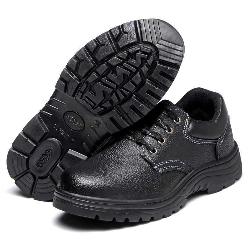 Unbreakable ความปลอดภัยรองเท้าชายหมวก Anti-MITE ทนต่อ stab แก๊สลื่นทำงานป้องกันรองเท้า