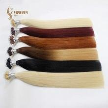 Forever Pro волосы для наращивания, 1 г/локон, 20 дюймов, натуральные человеческие волосы для наращивания с микро-бусинами Remy Nano Ring Links, 50 г, 100 г, 150 г, ...