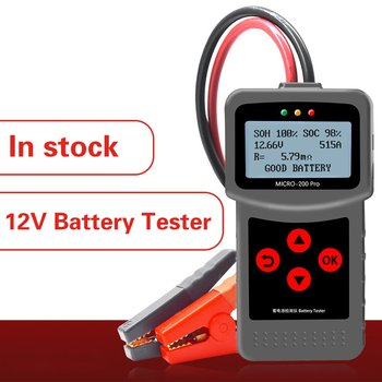 Hot 2020 Micro200pro Battery Capacity Digital Automative Resistance Tester Supplier Tool 12v Car Battery Tester 40 To 2000cca image