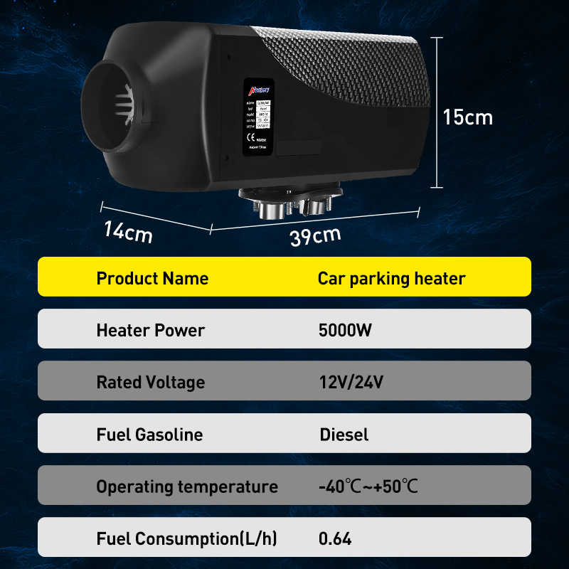 Car-Heater Boats Lcd-Monitor Remote-Control Rv Motorhome Air-Diesels Trucks 5kw 12v