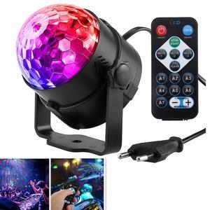 Цветной диско-шар для диджеев Lumiere, светильник 3 Вт с активацией звуком, лазерный проектор, RGB сценический светильник, лампа с эффектом ing, муз...