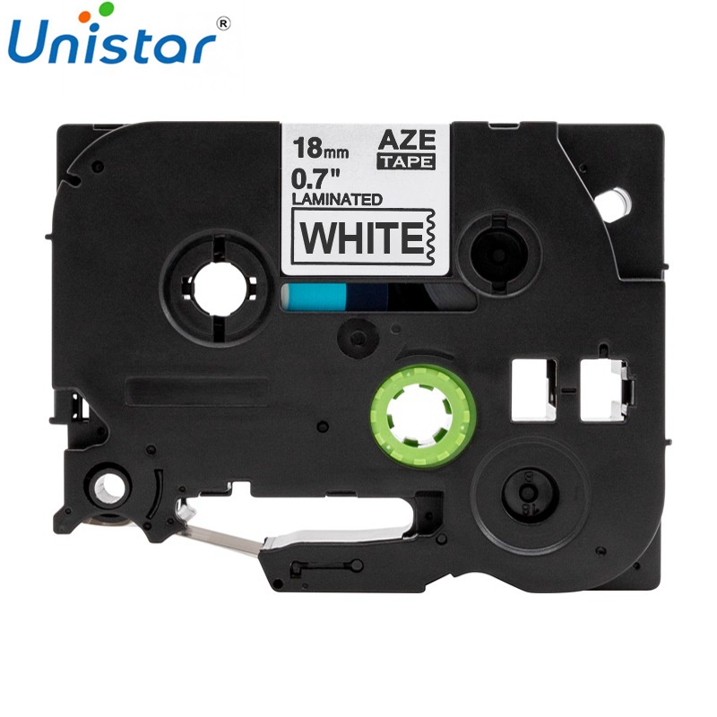 Unistar TZe241 18mm Sticker Compatible For Brother P-touch Tape Black On White TZe TZ 241 Label Maker TZe-241 Printer Ribbons