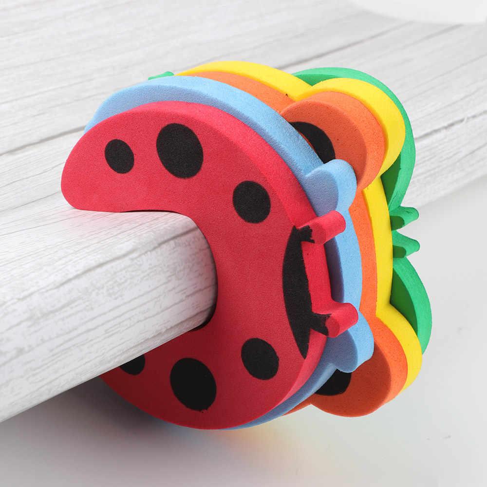 5 piezas/lote protección de seguridad para bebés, bloqueador de puerta con forma de animales de dibujos animados para niños, protectores de dedos, pinza para la puerta