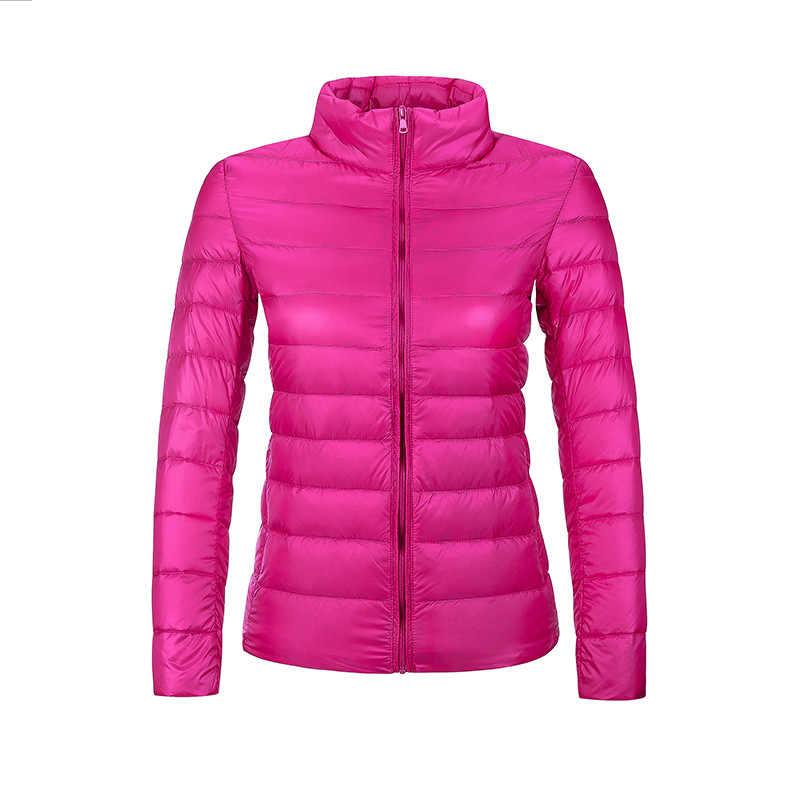 大サイズ 3XL アヒルダウン女性のための固体カラーフルスリーブダウンジャケット屋外冬暖かい軽量コート