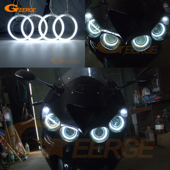 For Kawasaki Ninja ZX14 zx14r ZZR1400 2006-2011 Excellent angel eyes Ultra bright illumination CCFL Angel Eyes kit halo rings цена 2017
