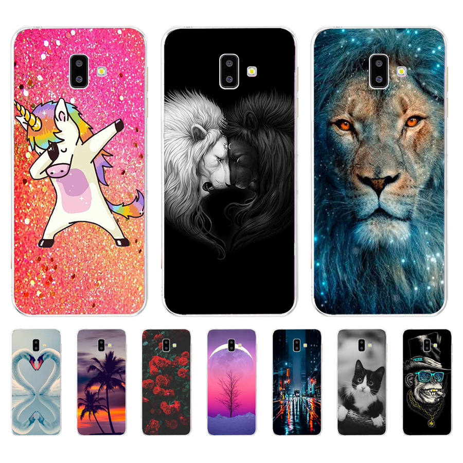 For <font><b>Samsung</b></font> <font><b>J6</b></font> <font><b>J6</b></font>+ <font><b>2018</b></font> Case <font><b>coque</b></font> Soft TPU <font><b>silicon</b></font> Cover on For <font><b>Samsung</b></font> Galaxy J6Plus <font><b>2018</b></font> J 6 <font><b>Plus</b></font> J610 J610F Capas image