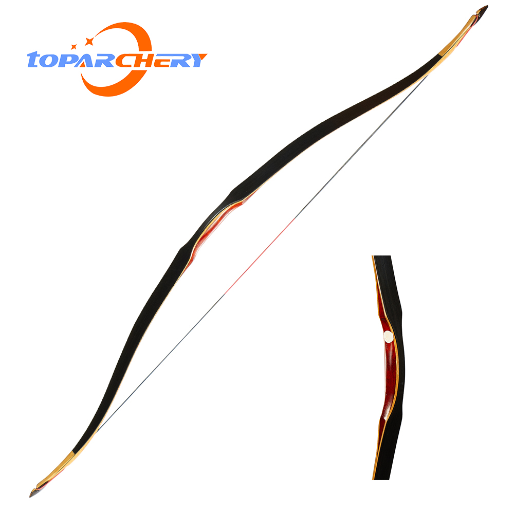 "54/"" Archery Traditional Longbow Wooden One Piece 10-35lbs Recurve Bow Hunting"