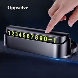 Tymczasowa karta parkingowa ABS Tele wizytówka z numerem telefonu powiadomienie nocna karta świetlna pachnąca Car Styling wizytówka z numerem telefonu