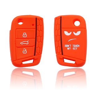 Image 5 - Xinyuexin Dont Touch My Key 3 Buttons Car Key Cover case For VW Golf 7 MK7 Seat 3 Ibiza  4 Arona Ateca Skoda Octavia