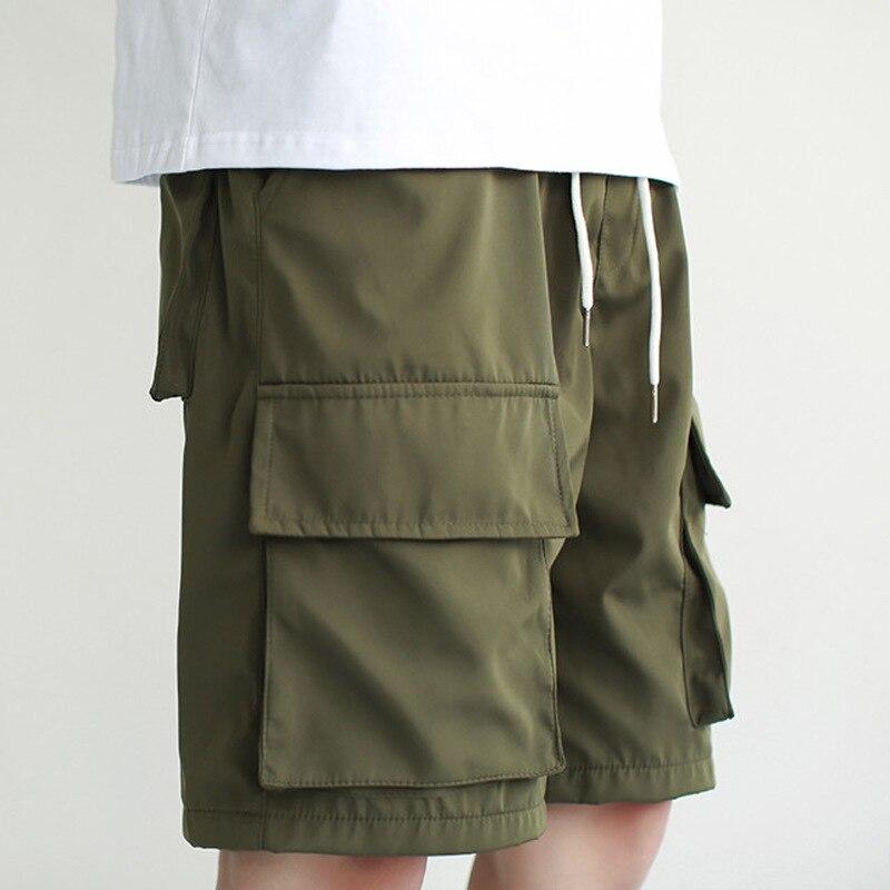 EWQ / Men's And Women's Wear 2020 New Summer Spring Black High Street Loose 3XL Shorts Korean Fashion Cargo Shorts Tide FQ552